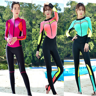 水母衣防曬泳衣女男全身連體分體專業潛水服長袖長褲游泳浮潛情侶