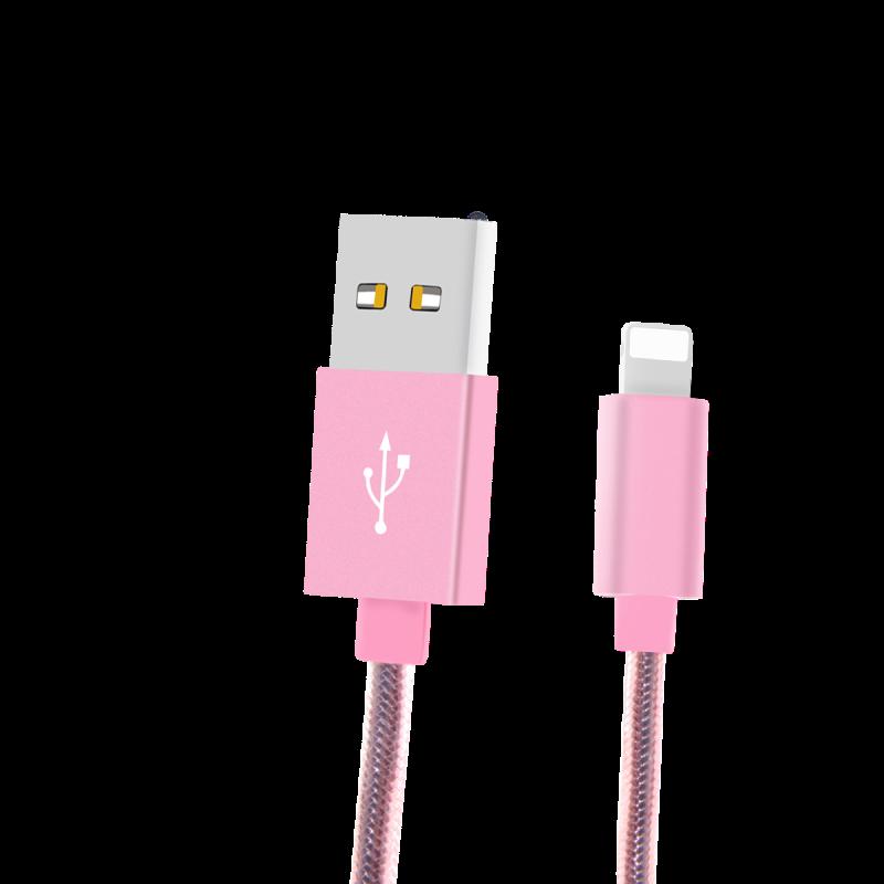 粉色苹果数据线原装正品快充闪充加长