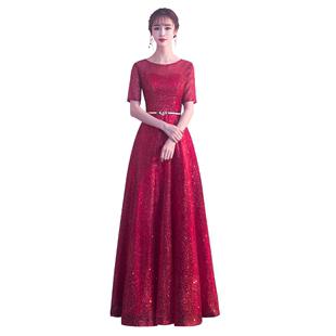 大合唱演出服女時尚優雅晚禮服主持人2019新款大氣表演服裝長裙女
