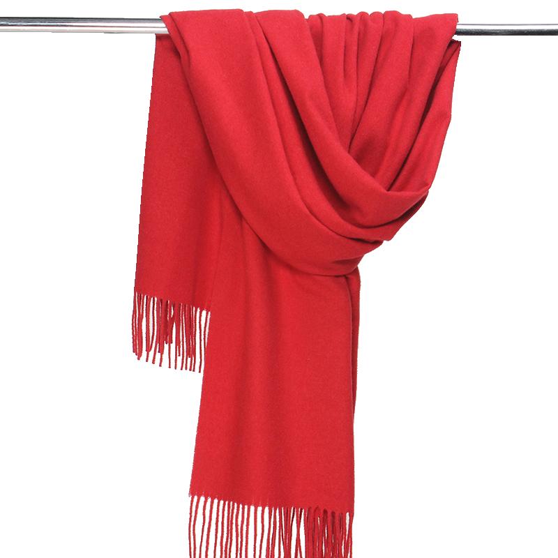 大红色围巾女春秋中国红冬季薄披肩毯子两用斗篷秋季外搭秋冬批肩