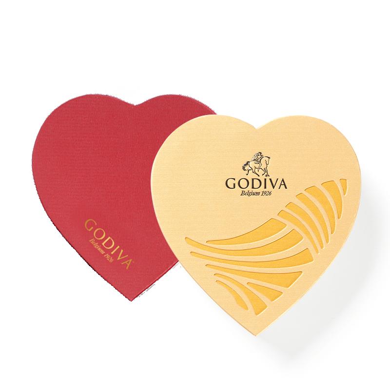 【双11预售】GODIVA歌帝梵金装心形巧克力礼盒12颗装进口告白礼物