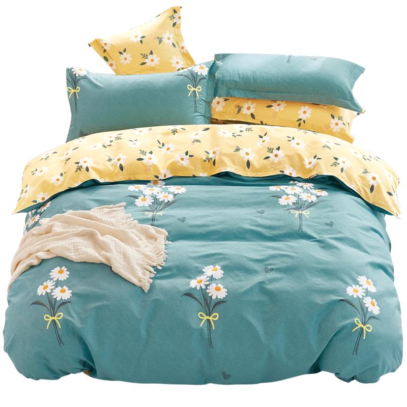 小绵羊四件套全棉纯棉公主风双人床单被套床上用品北欧风四件套