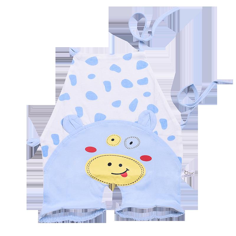 婴比迪婴儿连脚肚兜护肚纯棉春秋夏双层绑带带腿肚兜0-2岁新生儿