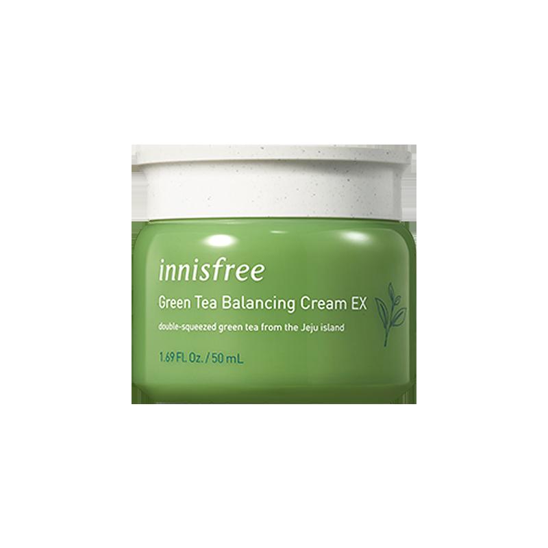 韓國Innisfree悅詩風吟進口綠茶面霜修護補水保濕版滋潤官網乳液