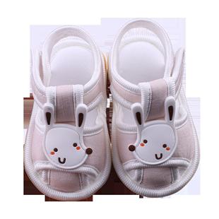 婴儿凉鞋学步软底6-12个月夏季男女宝宝0-1岁新生儿步前不掉鞋