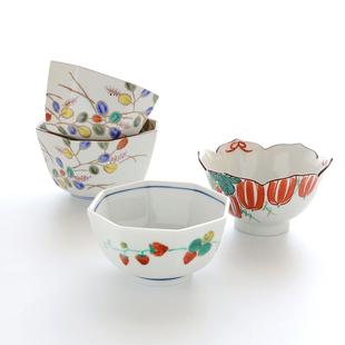 日本製進口九穀燒陶瓷創意可愛小碗不規則手繪日式水果料理零食碗
