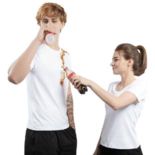 防水防污 美國32度cool 女男士短袖t恤 白色黑色 防油T恤 黑科技