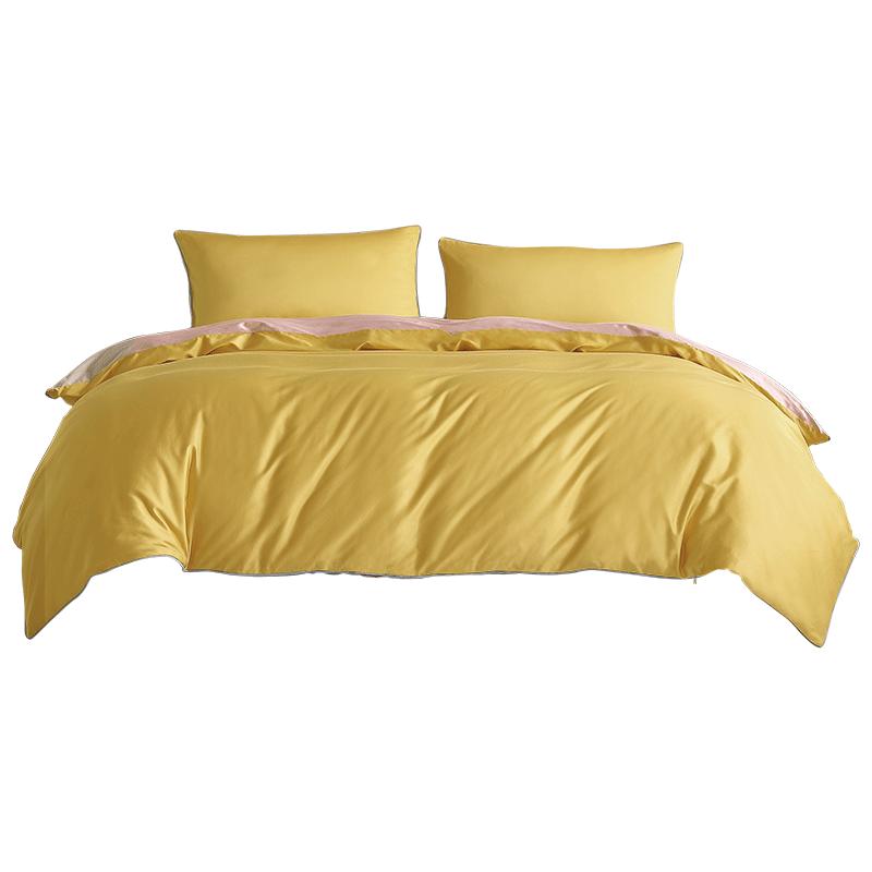 水星家纺60支长绒棉简约抗菌四件套1.5/1.8米床上用品凯特柔玫