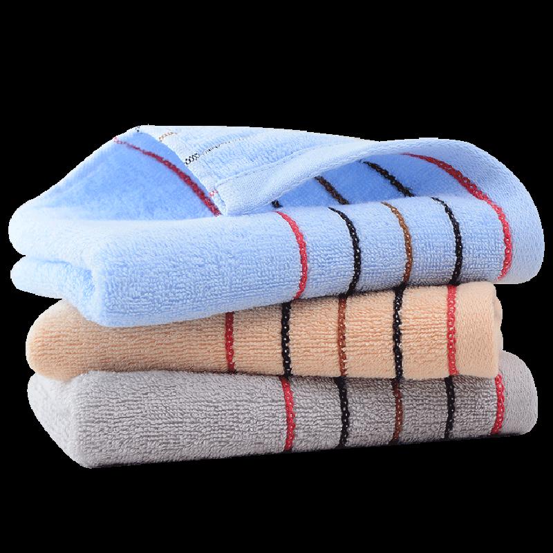 3条装洁丽雅纯棉加厚家用洗脸巾