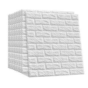 牆紙自粘3d立體牆貼磚紋卧室温馨裝飾背景牆面壁紙泡沫磚防水貼紙