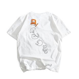 韓版ulzzang港風日系復古原宿風bf寬鬆純棉學生情侶短袖t恤潮男女