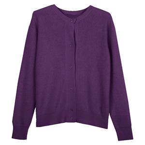 香芋紫毛衣开衫梅子色网红秋短外套