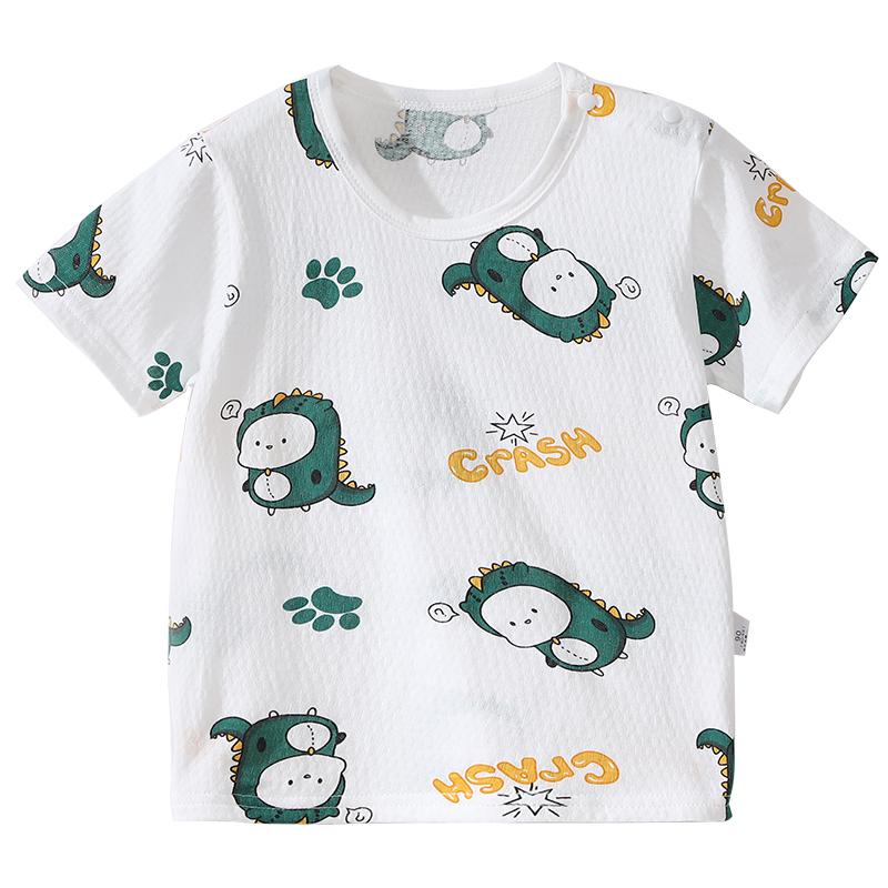 儿童短袖T恤纯棉夏季上衣薄款宽松打底衫