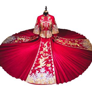 秀禾服新娘中式禮服2020新款秀禾結婚喜服古裝嫁衣龍鳳褂女秀和服