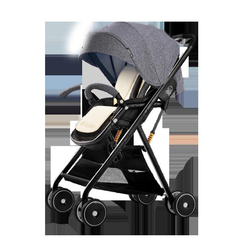 JBBCN婴儿推车超轻便可坐可躺折叠伞车小孩高景观儿童宝宝手推车