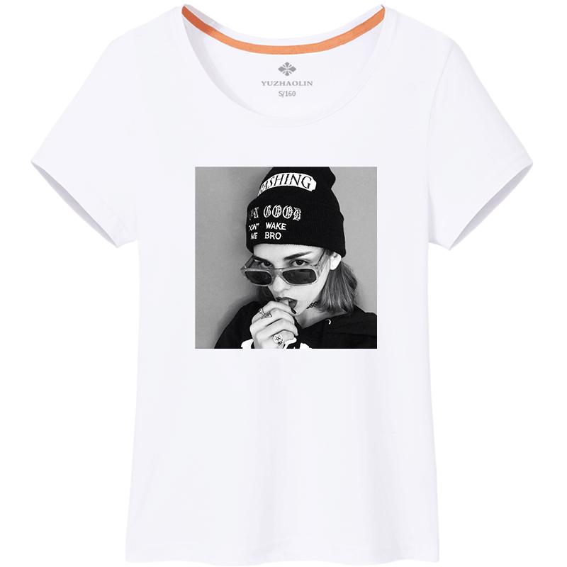 短袖t恤女2019新款纯棉夏装半袖夏ins潮韩版宽松体恤女装白色上衣