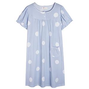 夏天睡裙短袖纯棉中长款韩版裙子
