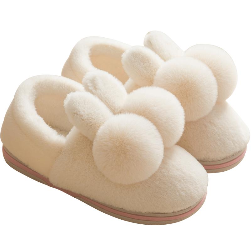 棉拖鞋女冬季家居可爱包跟室内家用毛绒产后月子鞋情侣秋冬棉鞋男