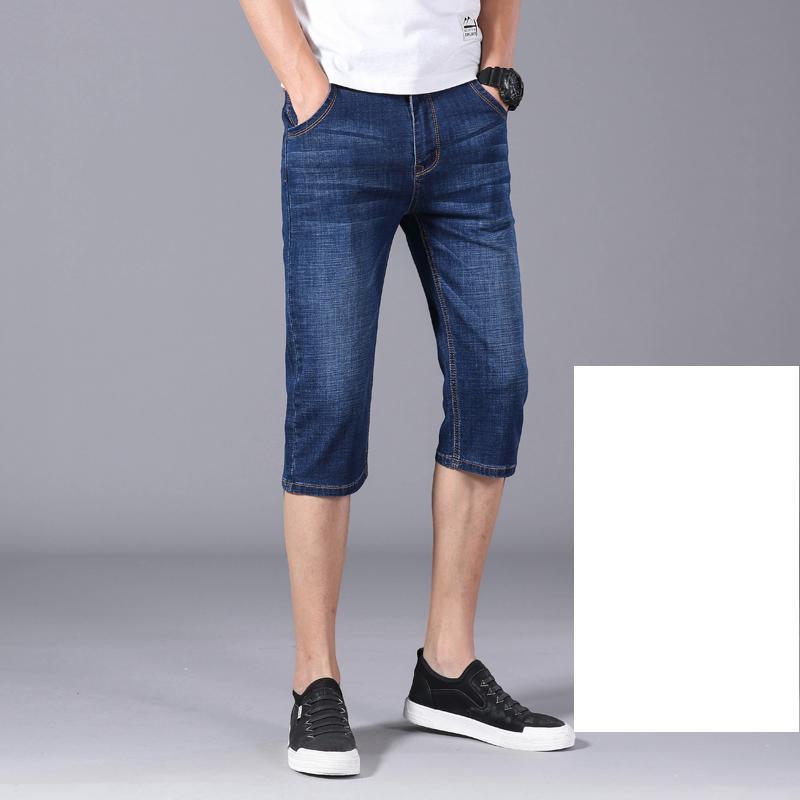 男士七分裤薄款牛仔裤2020夏季韩版潮流休闲中裤微弹直筒裤子男潮