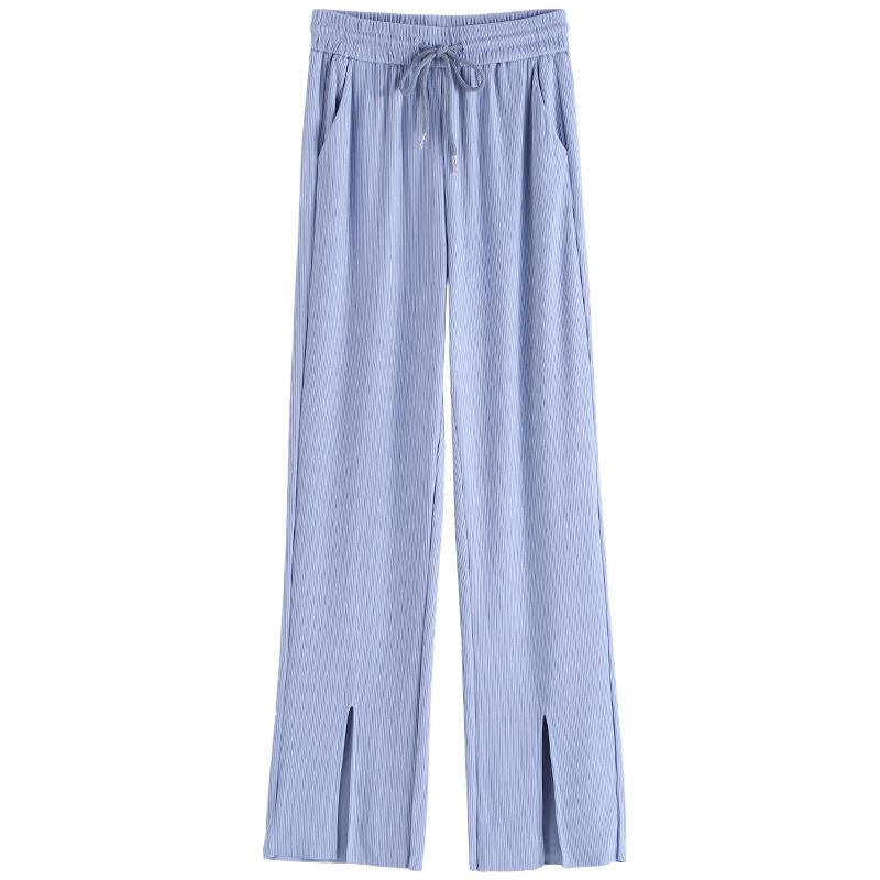 冰丝阔腿裤女高腰垂感2021年新款宽松显瘦夏季薄款拖地春休闲裤子