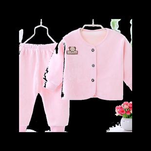 珊瑚绒男女宝宝秋冬款加绒套装睡衣