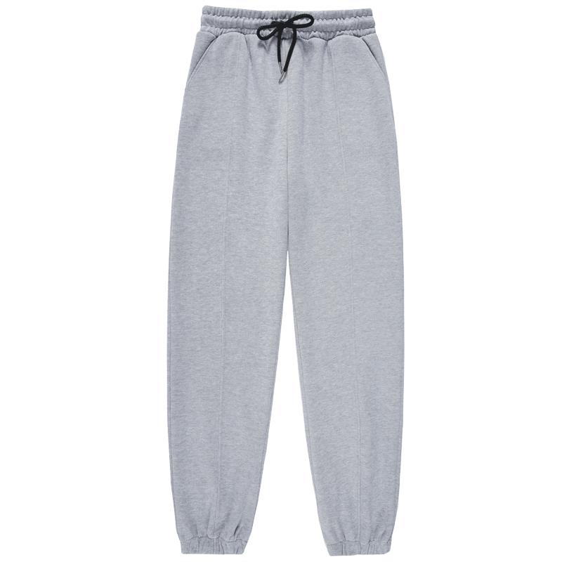 2020新款运动裤女卫裤宽松灰色显瘦束脚休闲裤子秋冬季加绒裤长裤