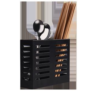 不锈钢厨房壁挂式沥水家用筷子筒