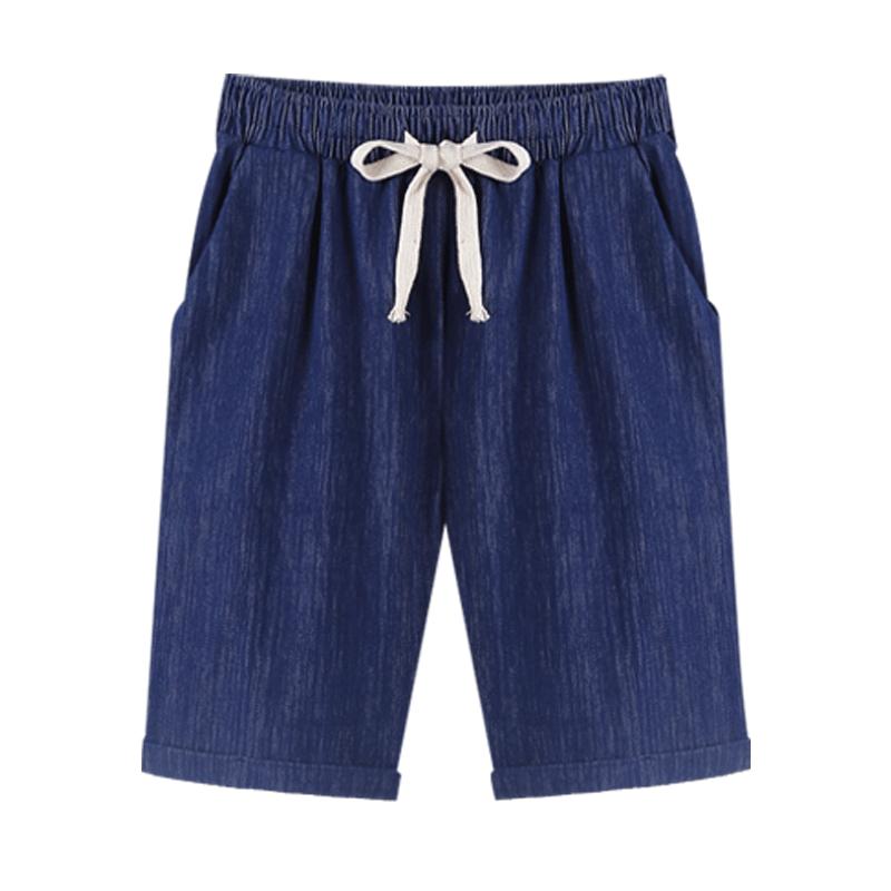 两条装!港风五分裤高腰直筒中裤季薄款