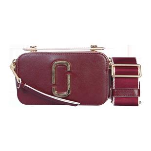 MARC JACOBS馬克雅可布酒紅色女士單肩斜跨包包時尚百搭小方包