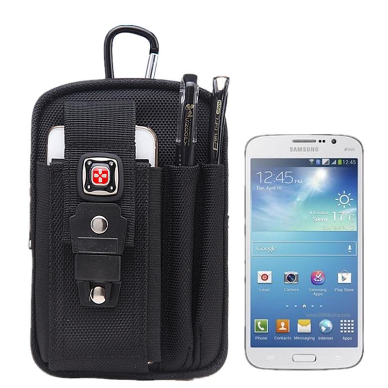 瑞士军刀户外运动腰包男5.5寸6寸6.44寸手机包穿皮带多功能小腰包