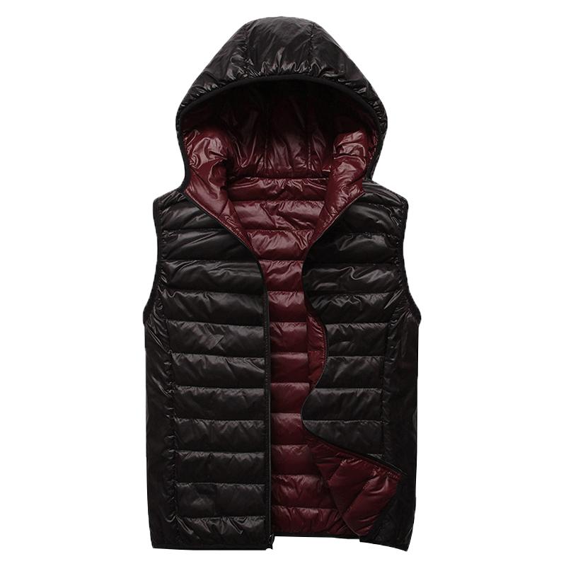 男士羽绒马甲秋冬季2019韩版修身双面穿白鸭绒马夹背心帅气外套潮