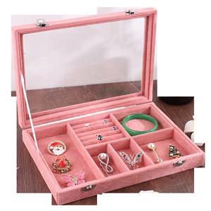 新款竹木耳环展示架耳钉卡片展示板卡槽插板首饰收纳珠宝陈列道具