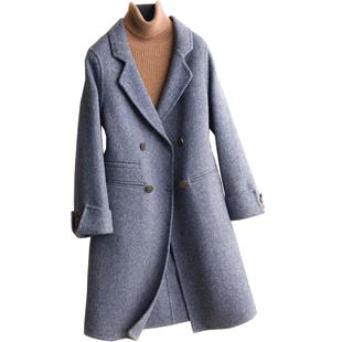 双面羊毛大衣2019冬季零羊绒大衣