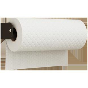 廚房紙巾架不鏽鋼捲紙掛架壁掛式免打孔用紙盒擦手吸油收納置物架
