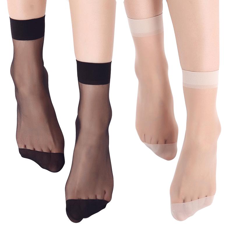 宝娜斯船袜女夏季短袜子纯棉底浅口隐形硅胶防滑不掉跟蕾丝袜套