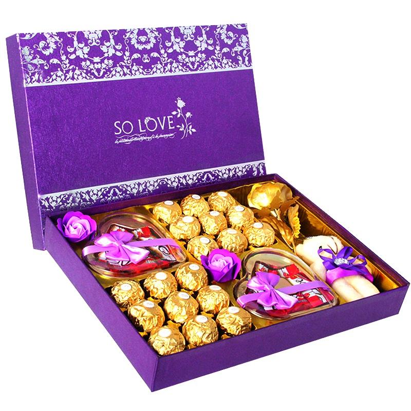 德芙巧克力礼盒装送男女友情人节创意网红表白生日中秋节礼物品