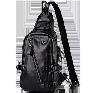新款品牌男士包包商务休闲单肩胸包潮流个性斜挎包大容量小背包