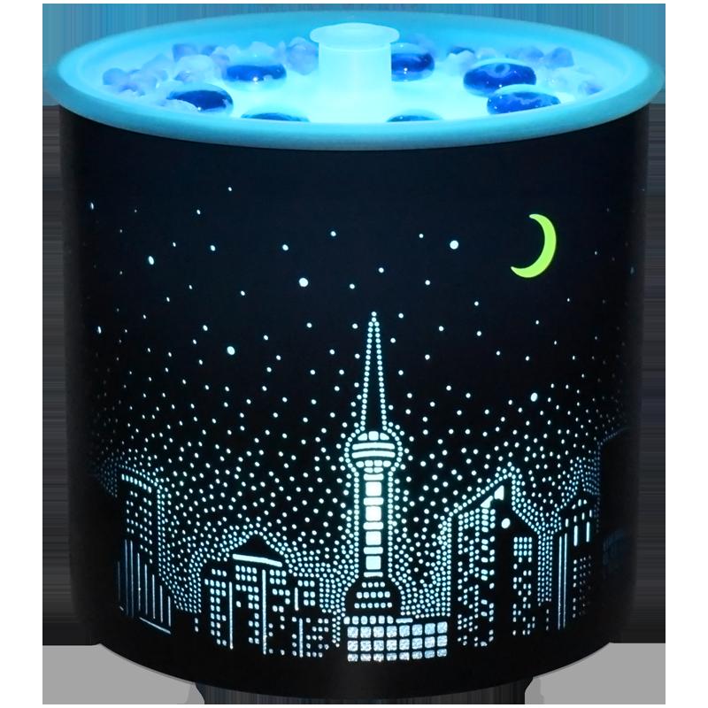 【音乐喷泉】香薰机卧室加湿器家用熏香精油持久喷雾夜灯浪漫礼物
