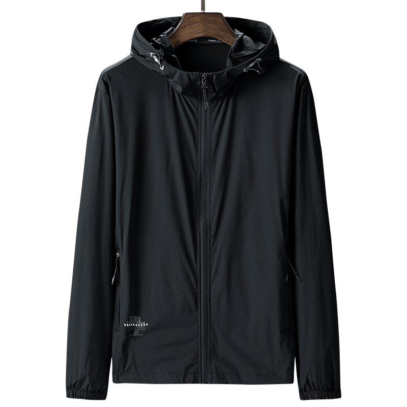夏季新款男士超薄速干透气运动风衣外套长袖防晒服男宽松大码夹克
