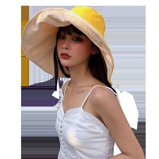 双面渔夫帽夏天日系防紫外线帽子