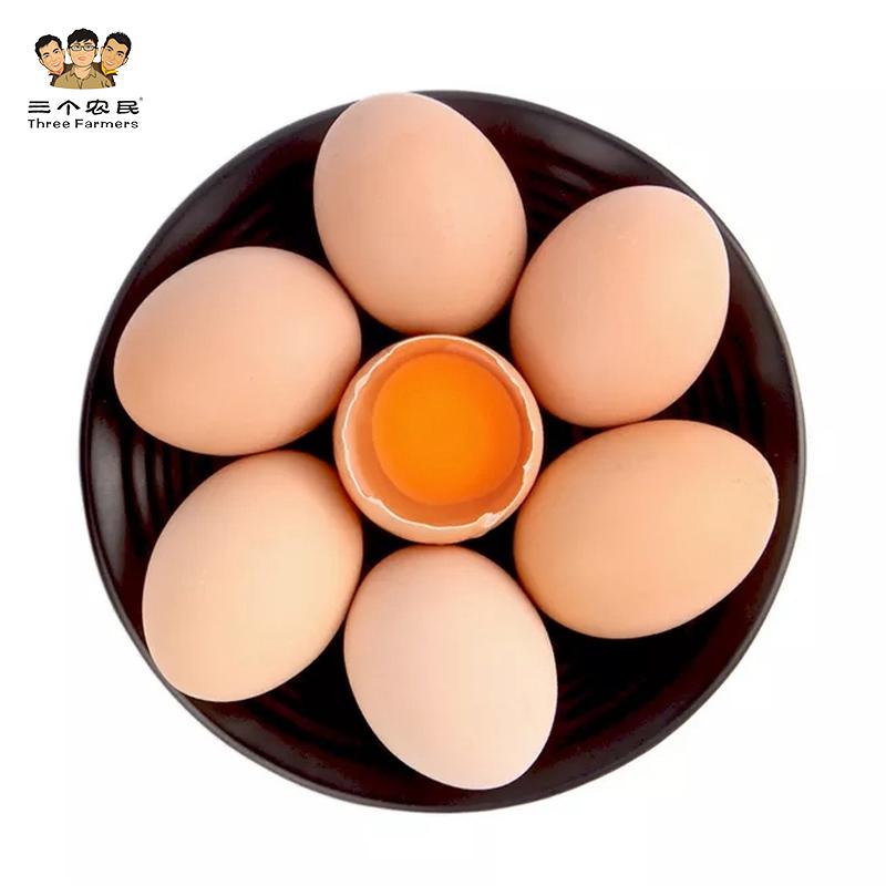 三个农民大别山生态谷物土鸡蛋天然散养土鸡蛋新鲜鸡蛋30枚