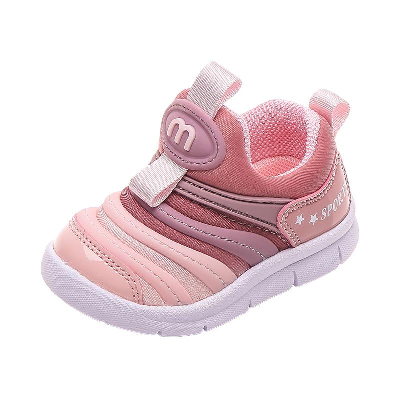 宝宝毛毛虫学步鞋软底0-1 2运动鞋使用评测分享