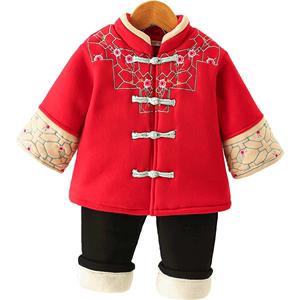 女宝宝套装秋冬装两件套小童汉服