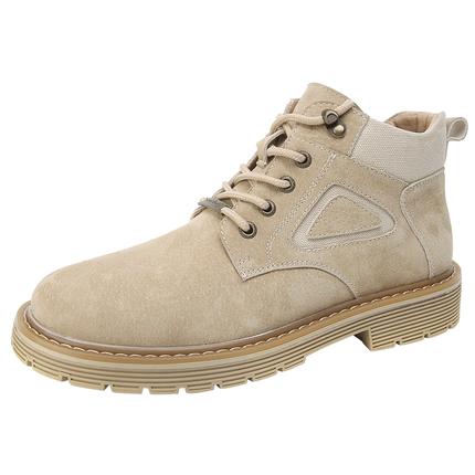 秋季潮百搭英伦中帮工装鞋马丁靴