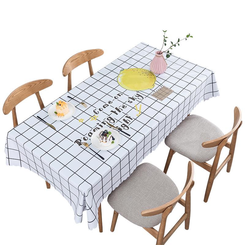 北欧餐桌布防水防油免洗台布茶几垫