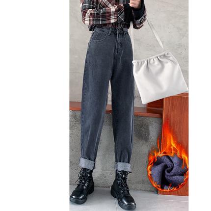 高腰显瘦宽松直筒2020秋冬季牛仔裤