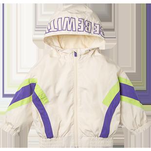 迷你巴拉巴拉男童外套2020春秋男童寬鬆連帽上衣潮洋氣韓版童裝