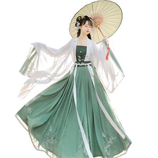 佐馨【燕語】漢服女原創對襟齊腰襦裙廣袖秋款日常中國風