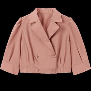 太平鳥官方旗艦店女裝西裝外套2020秋裝新款小個子短款休閒上衣潮