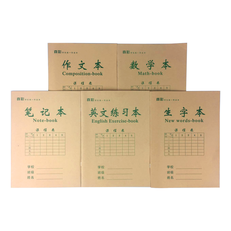 32K真彩小学生中字本10本